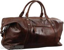 Pierre Cardin Leather overnight duffle 2824 DARK COGNAC