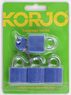 Korjo 4-pack colourful locks LLC40 BLUE