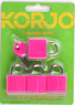 Korjo 4-pack colourful locks LLC40 PINK