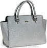 Morrissey Leather handbag MO1725 SILVER