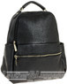 Pierre Cardin leather backpack PC1867 BLACK