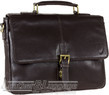 Hidesign leather briefcase KINGSFORD BROWN