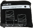 Samsonite foldable luggage cover (large) Z34-062 BLACK