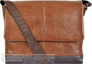 Things Terrific leather messenger bag HARVARD Rich Tan