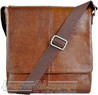 Things Terrific Leather messenger bag LEO Rich Tan