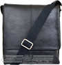 Things Terrific Leather messenger bag LEO Black
