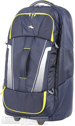 High Sierra composite V3 wheeled duffle with backpack straps 76cm 87275 NAVY / YELLOW