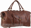 Pierre Cardin Leather overnight duffle 3134 CHESTNUT