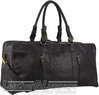 Pierre Cardin Leather overnight duffle 3139 BLACK