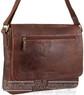 Pierre Cardin Leather messenger bag PC3136 CHOCOLATE