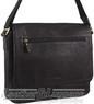 Pierre Cardin Leather messenger bag PC3136 BLACK