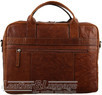 Pierre Cardin Leather briefcase PC2797 CHESTNUT - 1