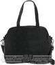 Gabee Michella Leather 3 compartment handbag LW62711 Black