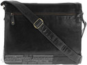 Cobb & Co Leather messenger bag LT58625 Black