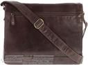 Cobb & Co Leather messenger bag LT58625 Chocolate