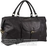Pierre Cardin Leather overnight duffle 3134 BLACK