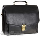Hidesign leather briefcase ANGUS / BLACK