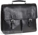 Hidesign leather briefcase GARETH / BLACK