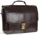 Hidesign leather briefcase ANGUS / BROWN