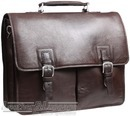 Hidesign leather briefcase GARETH / BROWN