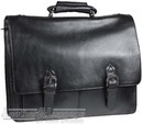 Hidesign leather briefcase PRESTON BLACK