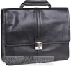 Hidesign leather briefcase KINGSLEY / BLACK