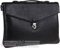 Hidesign leather briefcase FISHER / BLACK