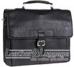 Hidesign leather briefcase SPECTOR BLACK